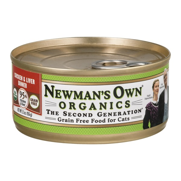 Newman's Own Grain Free Food for Cats Chicken & Liver Dinner