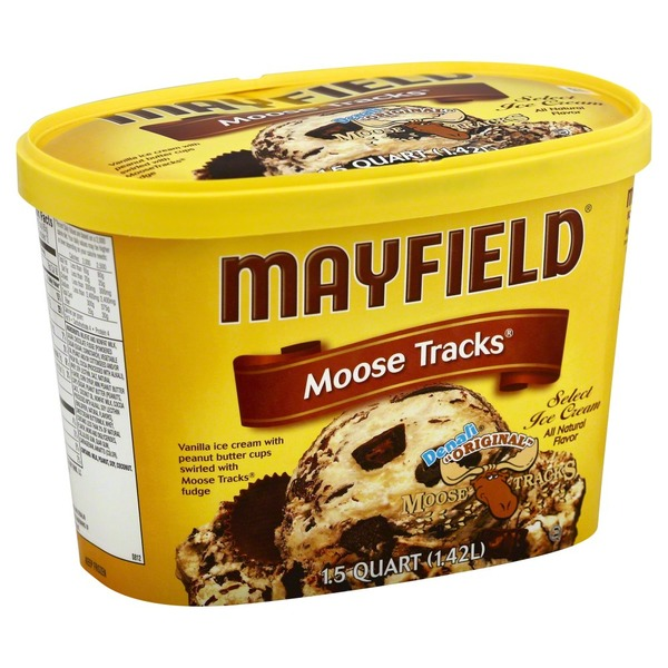 Mayfield Moose Tracks Select Ice Cream Tub