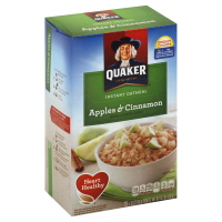 Quaker Oatmeal Instant Apples & Cinnamon - 10