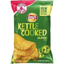 Lay's® Kettle Cooked Jalapeno Potato Chips 8 oz. Bag
