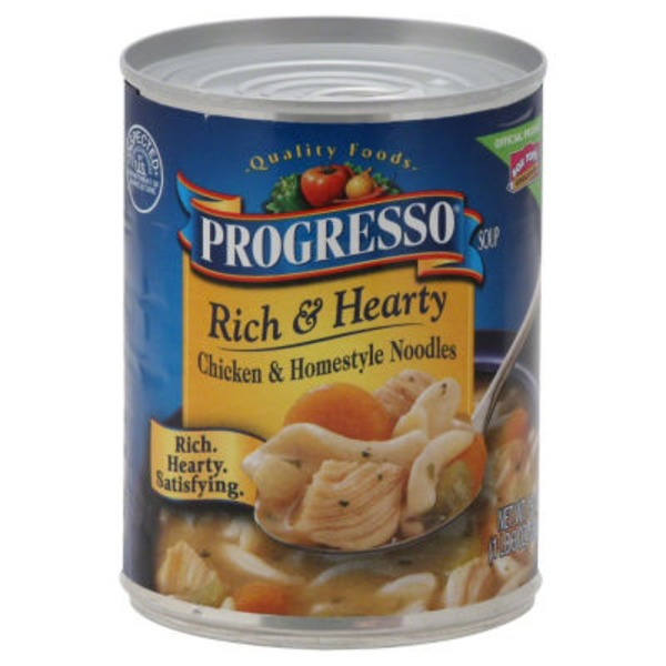 Progresso Rich & Hearty Chicken & Homestyle Noodles Soup