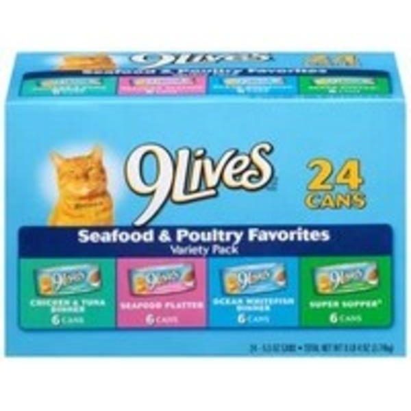 9Lives Cat Food Seafood & Poultry Favorites - 24 CT