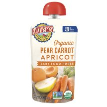 Earth's Best Organic Pear Carrot Apricot Baby Food Puree Stage 3, 4.2 OZ