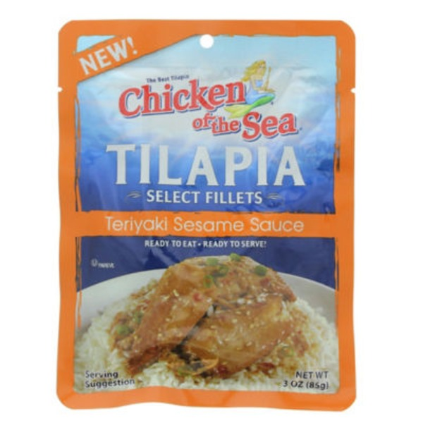 Chicken of the Sea Select Fillets in Teriyaki Sesame Sauce Tilapia