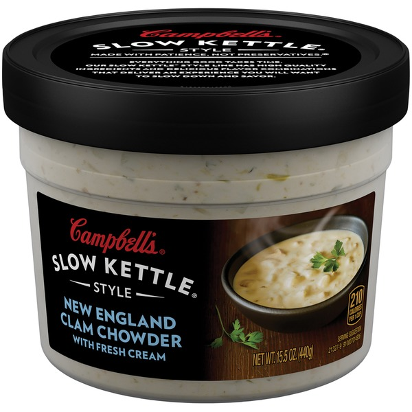 Campbell's Slow Kettle New England Clam Chowder with Fresh Cream Soup