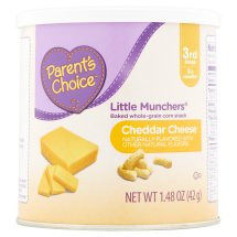 Parent's Choice Little Munchers Cheddar Snacks, 1.48 oz