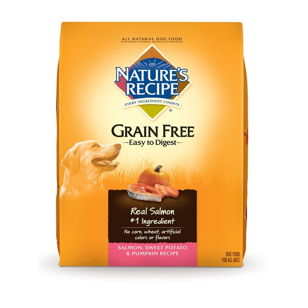 Nature's Recipe Grain Free Salmon, Sweet Potato & Pumpkin Recipe Dog Food for All Ages