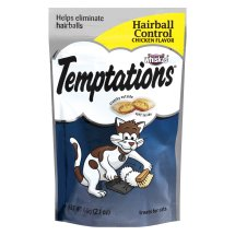 TEMPTATIONS Functional Treats for Cats Hairball Control Chicken Flavor 2.1 Ounces