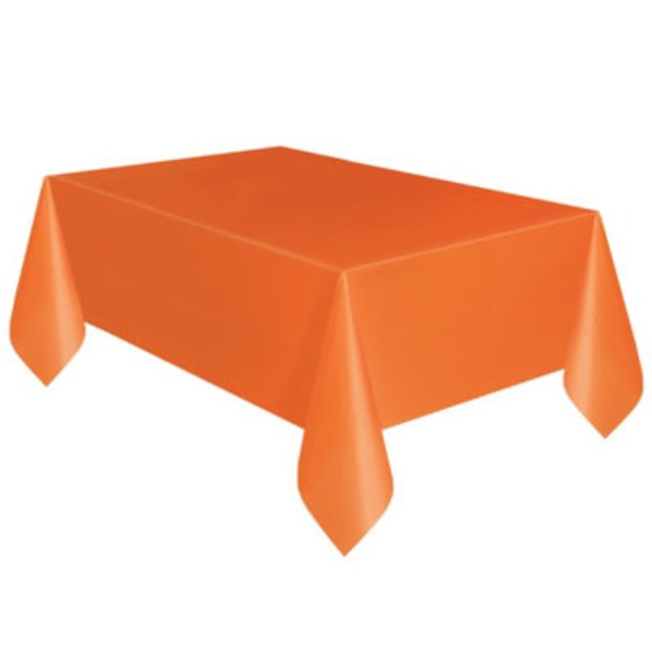 Unique Orange Plastic Table Cover