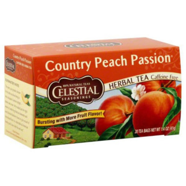 Celestial Seasonings Country Peach Passion Herbal Tea Caffeine Free Tea Bags - 20 CT