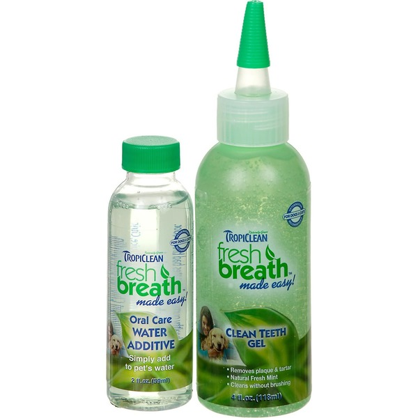 Tropiclean Fresh Breath Natural Fresh Mint Clean Teeth Gel For Dogs & Cats