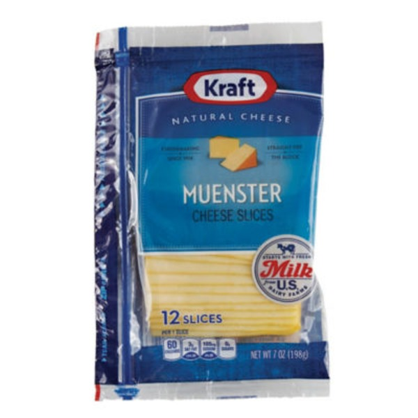 Kraft Natural Slices Muenster Cheese Slices