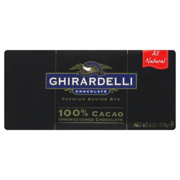 Ghirardelli Chocolate 100% Cacao Unsweetened Chocolate Baking Bar