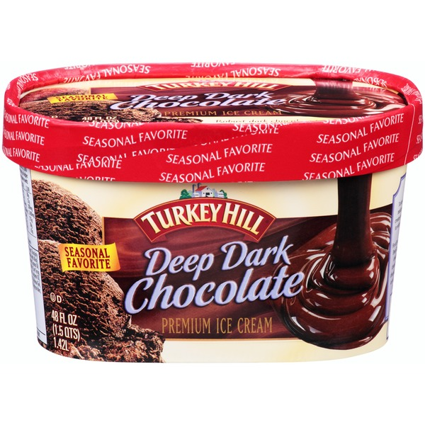 Turkey Hill Deep Dark Chocolate Premium Ice Cream