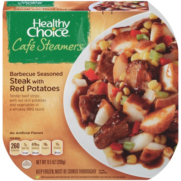Healthy Choice Top Chef Barbecue Seasoned Steak with Red Potatoes Cafe Steamers