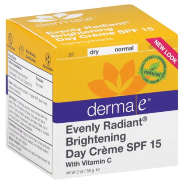 Derma E Evenly Radiant Brightening Day Creme SPF 15