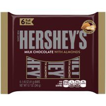 HERSHEY'S Milk Chocolate with Almonds Bars, 6 count, 8.7 Ounces