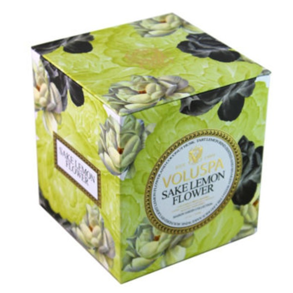 Voluspa Maison Jardin Collection, Classic Maison Candle, Sake Lemon Flower