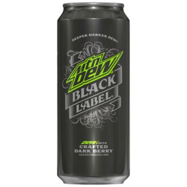 Mountain Dew Black Label Soda