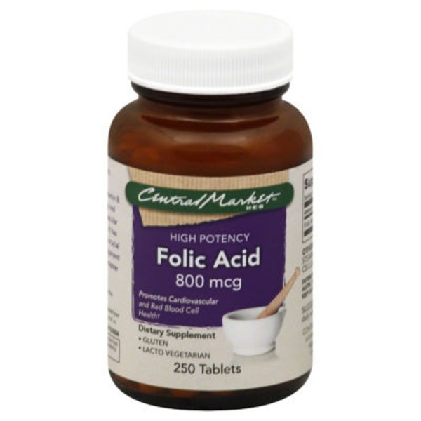 Central Market Folic Acid Tablets