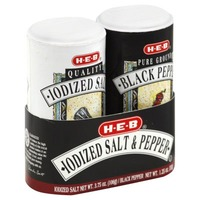 H-E-B Iodized Salt & Pepper Shaker Seat