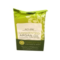 Acure Unscented Argan Oil Cleansing Towelettes