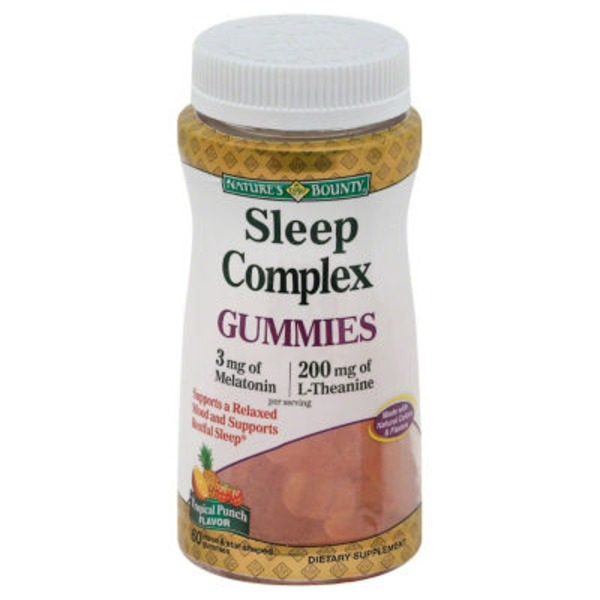 Nature's Bounty Sleep Complex, Tropical Punch Flavor, Gummies, Bottle