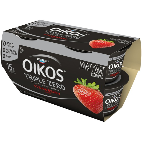 Oikos Triple Zero Triple Zero Greek Strawberry Nonfat Yogurt