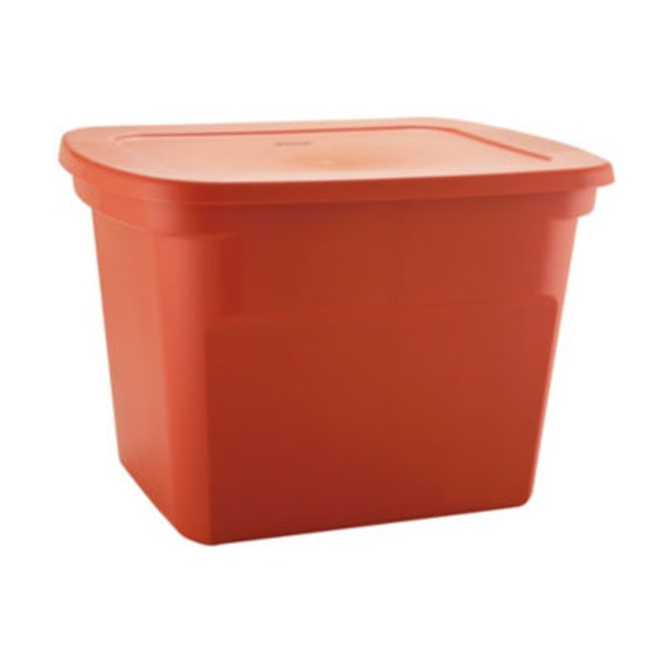 Sterilite 18 Gallon Burnt Orange Tote
