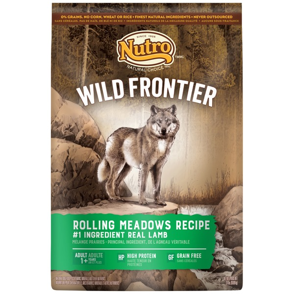 Nutro Wild Frontier Rolling Meadows Recipe with Lamb Adult Dog Food