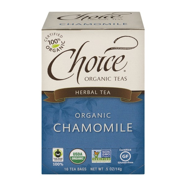Choice Organic Teas Chamomile Herbal Tea, Caffeine Free