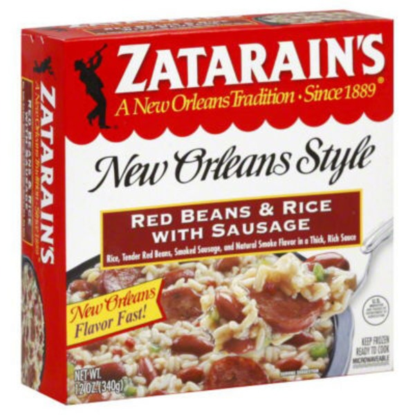 Zatarain's Red Beans & Rice with Sausage Frozen Entree