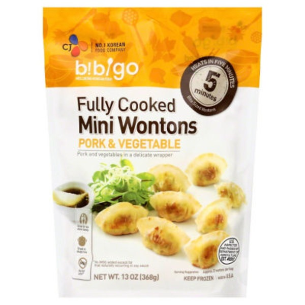 Bibigo Wontons, Mini, Pork & Vegetable