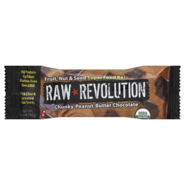 Raw Revolution Super Food Bar Chunky Peanut Butter Chocolate