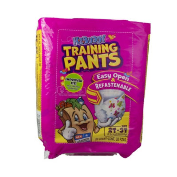 H-E-Buddy Girls Training Pants Size 2T-3T