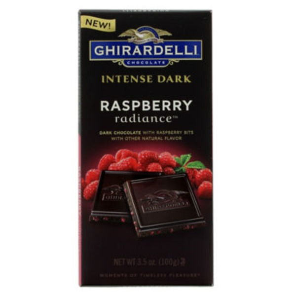 Ghirardelli Chocolate Intense Dark Chocolate, Raspberry Radiance