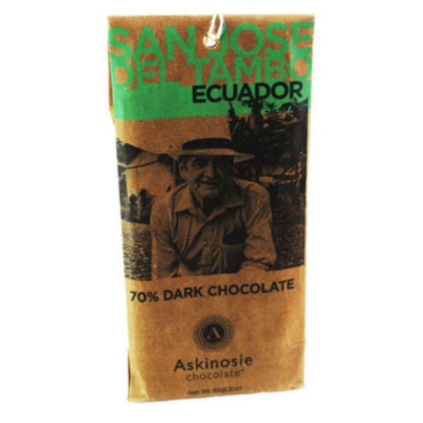 Askinosie San Jose del Tambo 70% Dark Chocolate Bar