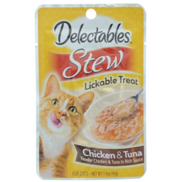 Delectables Stew Lickable Treat Chicken & Tuna For Cats