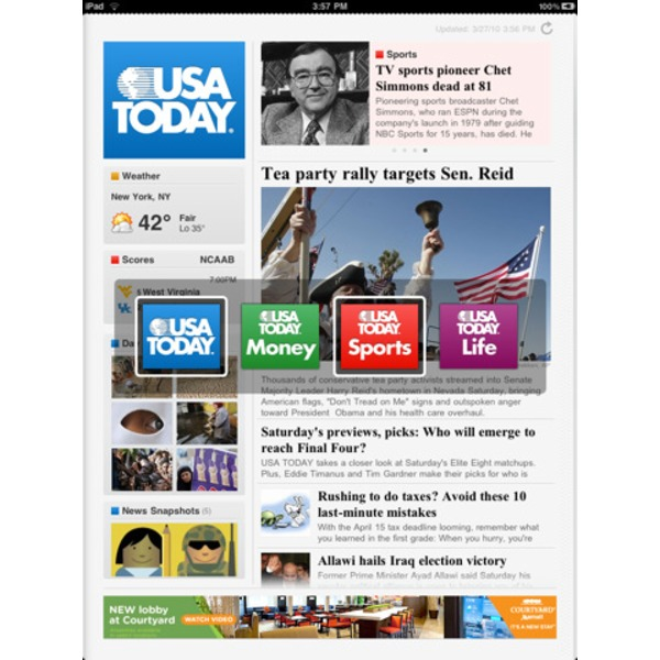 USA Today Thursday Newspaper