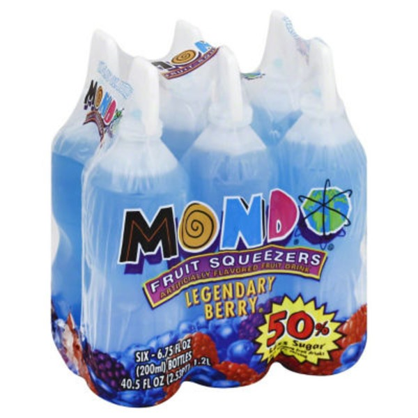 Mondo Squeezers Legendary Berry - 6 CT