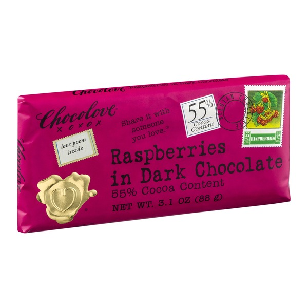 Chocolove Raspberries in Dark Chocolate