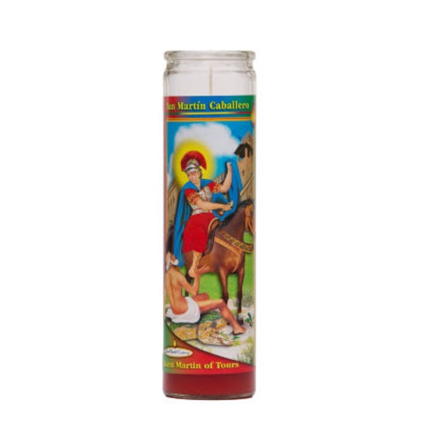 Reed Candle Company The Original Prayer Candle San Martin Caballero Red Wax