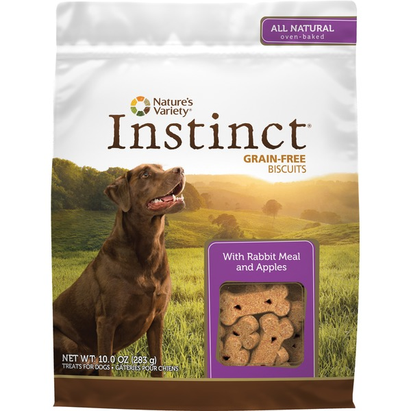 Nature's Variety Instinct Grain Free Biscuits With Rabbit Meal & Apples