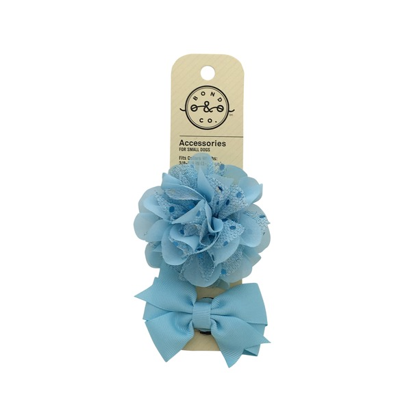 Bond & Co Blue Flower Bows