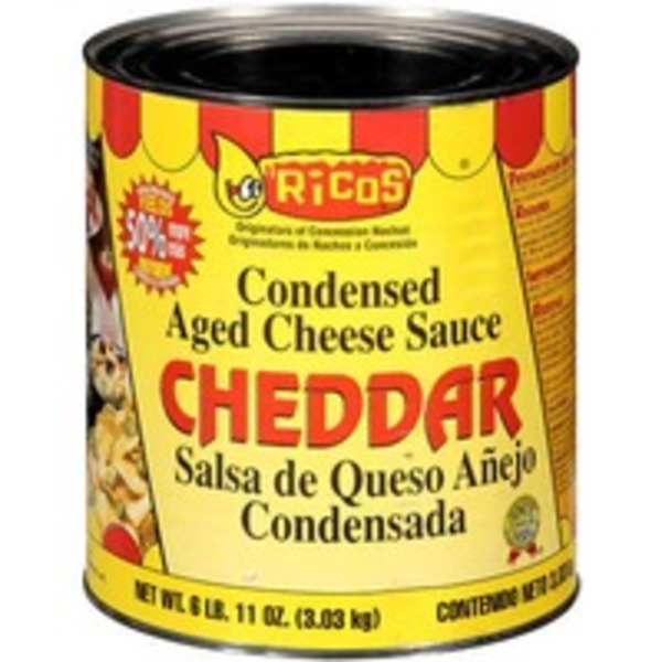 Ricos Condensed Aged Cheddar Cheese Sauce