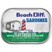 Beach Cliff In Soybean Oil W/Hot Green Chilies Sardines