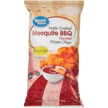Great Value® Kettle Cooked Mesquite Barbecue Flavored Potato Chips 8 oz. Bag