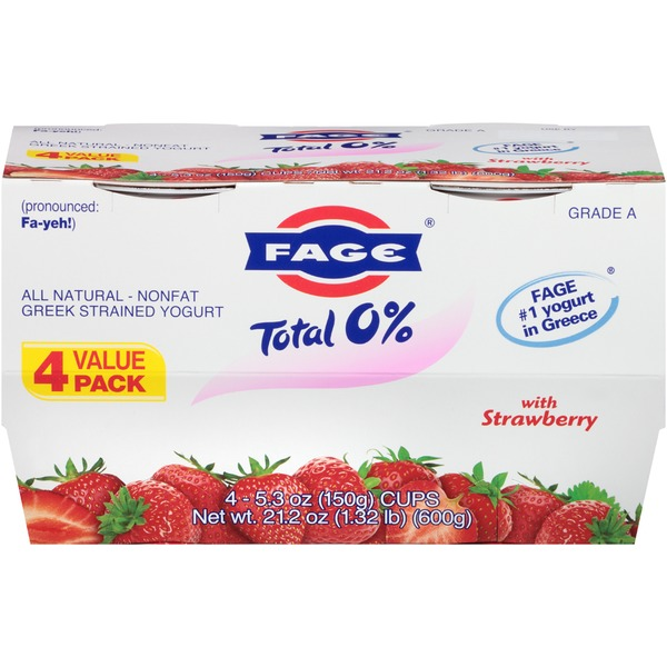 Fage Total 0% with Strawberry Nonfat Greek Strained Yogurt