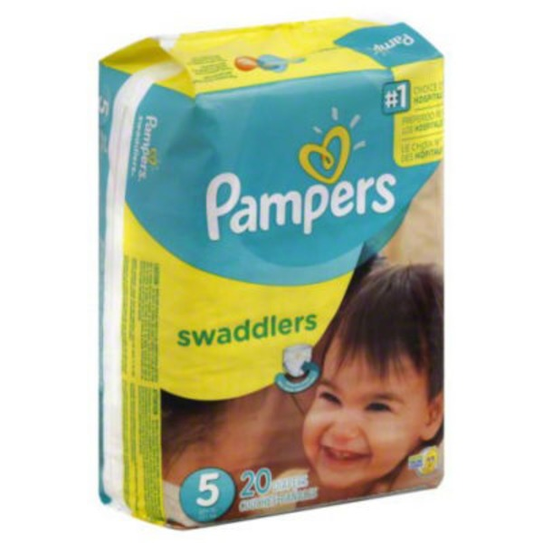 Pampers Swadlers Pampers Swaddlers Diapers Size 5 20 count Diapers