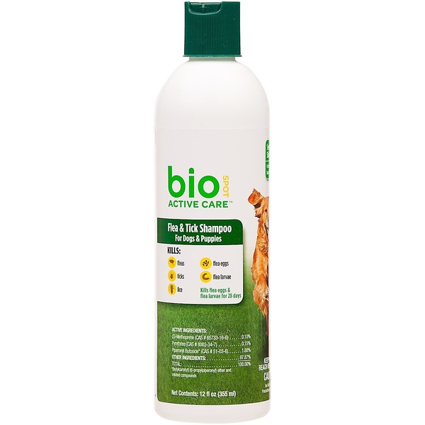 Bio Spot Active Care Flea & Tick Shampoo For Dogs & Puppies